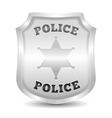 Silver Police Badge vector image vector image