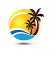 Summer logo 2 vector image vector image