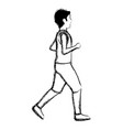 thin man in sports suit running vector image vector image