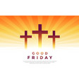 three cross glowing symbols for good friday design vector image vector image