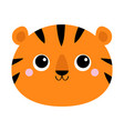 tiger face icon cute cartoon kawaii funny vector image vector image