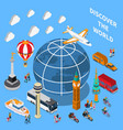 tourist discoveries isometric composition vector image