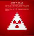 triangle sign with a radiation symbol flat icon on vector image vector image