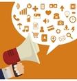digital marketing design vector image