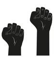 Symbol of clenched fist held in protest vector image