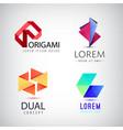 set of abstract colorful ribbon logos vector image