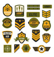 army signs and badges or stripes elite military vector image vector image