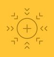 attraction symbol color linear icon vector image
