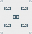 audio cassette icon sign Seamless pattern with vector image vector image