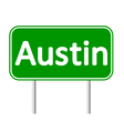 Austin green road sign vector image vector image