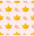 autumn yellow maple leaf season nature seamless vector image