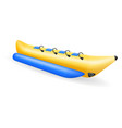 banana inflatable boat for water amusement vector image