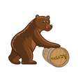 Bear and barrel vector image