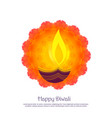 beautiful diwali festival greeting background vector image vector image