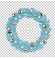 Blue merry christmas wreath