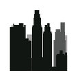 buildings silhouette urban landscape american vector image