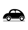 car bettle classic model transport vehicle vector image