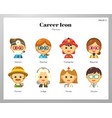 career icon flat pack vector image