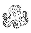 cartoon outline octopus vector image