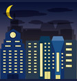 cityscape with buildig in the night vector image