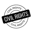 civil rights rubber stamp vector image vector image