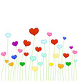 colored hearts vector image vector image