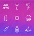 combat outline icons set collection of zoom vector image vector image