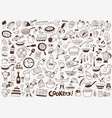 cooking food kitchen tools icons vector image vector image