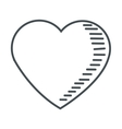 cute heart icon vector image