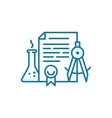 education document icon patent for invention vector image vector image