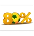 eighty percent discount icon vector image