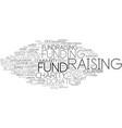 fund-raising word cloud concept vector image vector image