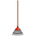 Garden rake vector image