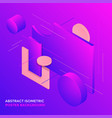 geometric abstract isometric design background vector image vector image
