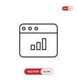 graphic bar chart icon vector image vector image