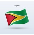 Guyana flag waving form vector image