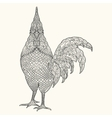 Hand drawn Decorative element Rooster Sign of vector image vector image