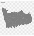 high quality map is a region portugal vector image