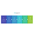 infographic label template with icons 6 vector image vector image