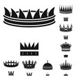 isolated object of king and majestic symbol vector image