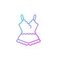 lace pyjamas gradient linear icon vector image vector image