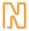 letter n bread icon cartoon style vector image