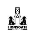lions gate logo design modern templates vector image vector image
