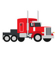 lorry flat vector image vector image