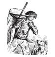 man hunting vintage vector image vector image
