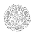 Mandala with three beautiful flying birds and vector image vector image