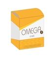 omega vitamin pill box medicine icon vector image