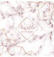 pink marble design template with abstract gold vector image vector image