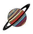 planet saturn astronomy universe icon vector image