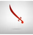 Red icon with shadow vector image